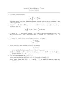 Qualifying Exam Problems: Analysis (September 9, 2014) Z