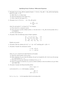 Qualifying Exam Problems: Differential Equations
