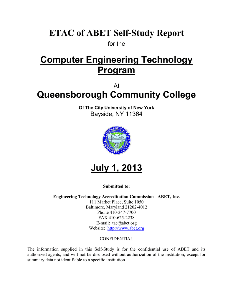 Etac Of Abet Self Study Report Computer Engineering Technology Binarydecimal Counter Circuit Diagram Measuringandtestcircuit Program Queensborough Community College