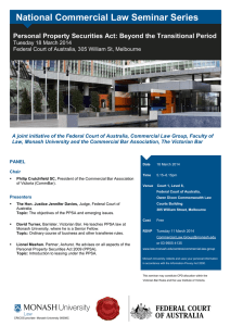 National Commercial Law Seminar Series  Tuesday 18 March 2014