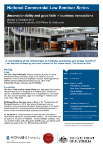 National Commercial Law Seminar Series Monday 21 October 2013