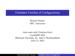 Forbidden Families of Configurations