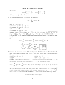 MATH 267 Problem Set 11 Solutions The notation