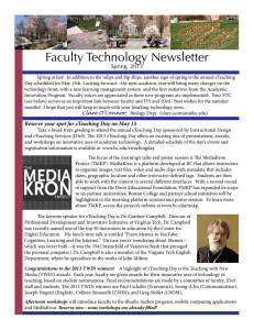 Faculty Technology Newsletter Spring, 2013