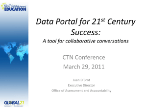Data Portal for 21 Century Success: CTN Conference