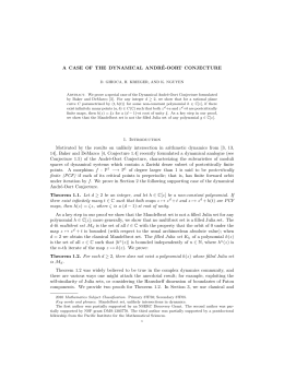 A CASE OF THE DYNAMICAL ANDR ´ E-OORT CONJECTURE