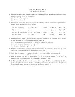 Math 227 Problem Set VI Due Wednesday, March 2