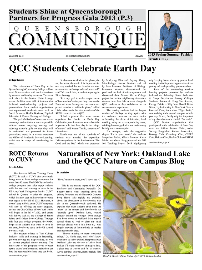 Qcc Students Celebrate Earth Day