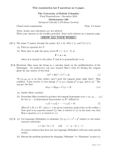 This examination has 9 questions on 3 pages. Final Examinations—December 2010