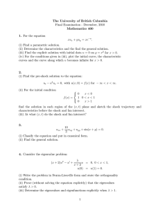 The University of British Columbia Final Examination - December, 2010 Mathematics 400 1.