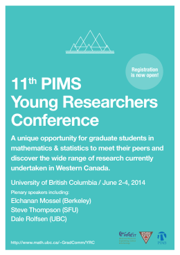 11 PIMS Young Researchers Conference