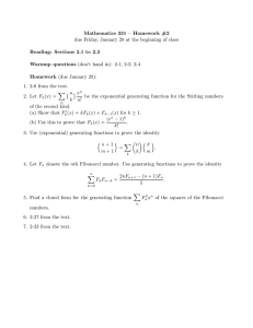 Mathematics 331 – Homework #2 Reading: Sections 2.1 to 2.3 Warmup questions Homework