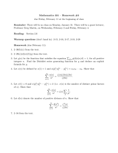 Mathematics 331 – Homework #3