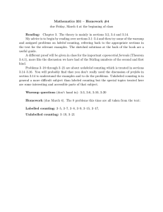 Mathematics 331 – Homework #4 Reading: