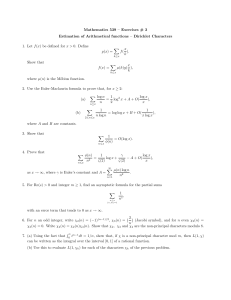 Mathematics 539 – Exercises # 3 f X