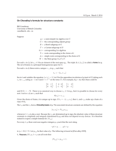 On Chevalley's formula for structure constants