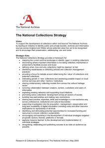 The National Collections Strategy
