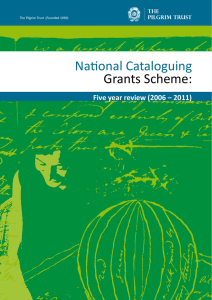 National Cataloguing Grants Scheme: Five year review (2006 – 2011)