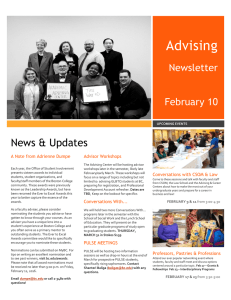 Advising Newsletter February 10