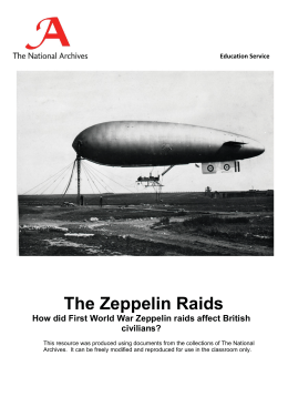 The Zeppelin Raids  civilians?
