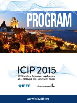 PROGRAM www.icip2015.org