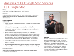 Analyses Of QCC Single Stop Services