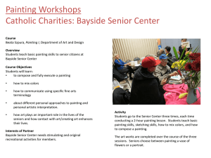 Painting Workshops Catholic Charities: Bayside Senior Center