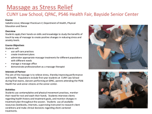 Massage as Stress Relief