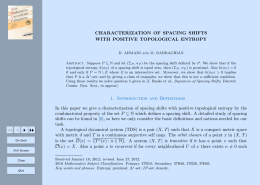 CHARACTERIZATION OF SPACING SHIFTS WITH POSITIVE TOPOLOGICAL ENTROPY