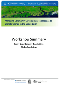 Workshop Summary Managing Community Development in response to