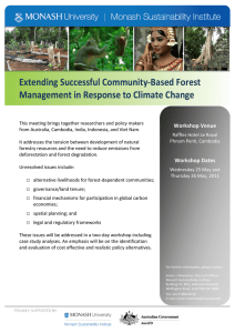 Extending Successful Community-Based Forest Management in Response to Climate Change