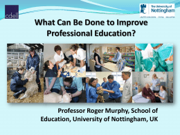 What can be done to improve professional education?