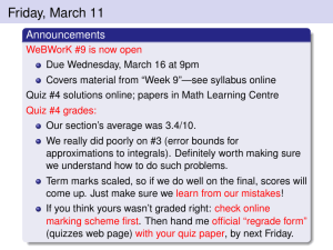 Friday, March 11 Announcements
