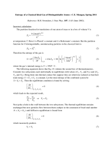 Entropy of a Classical Ideal Gas of Distinguishable Atoms—C.E. Mungan,...  Incorrect calculation m