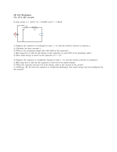 SP 212 Worksheet Ch. 27.4, RC circuits