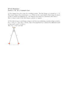 SP 212 Worksheet Lesson 1: Ch. 21.1, Coulomb's Law