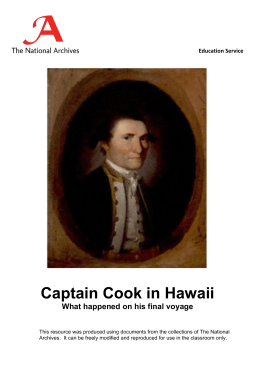 Captain Cook in Hawaii What happened on his final voyage Education Service
