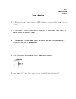 Exam 1 Review 15 mA + 220 Ω
