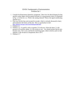 EE426: Fundamentals of Instrumentation Problem Set 1