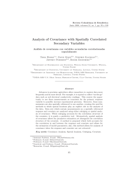 Analysis of Covariance with Spatially Correlated Secondary Variables