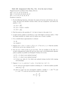 Math 120: Assignment 8 (Due Tue., Nov. 13 at the... Suggested practice problems (from Adams, 6th ed.):