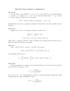 Math 217: Some solutions to Assignment 2 13.1 # 40: + y