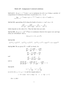 Math 217: Assignment 3 selected solutions