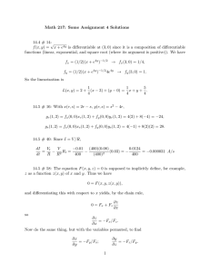 Math 217: Some Assignment 4 Solutions 14.4 # 14: √
