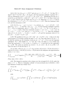 Math 217: Some Assignment 5 Solutions y z
