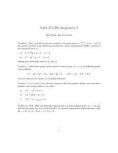Math 257/316 Assignment 2 Due Friday Jan 23 in class