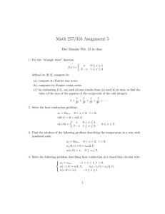 Math 257/316 Assignment 5 Due Monday Feb. 23 in class