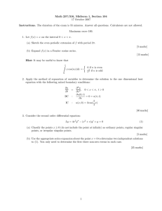 Math 257/316, Midterm 1, Section 104 17 October 2007