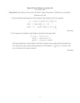 Math 257/316, Midterm 2, Section 104 17 November 2008