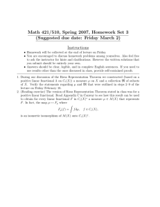 Math 421/510, Spring 2007, Homework Set 3 Instructions